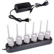 6-way multi универсальное быстрое зарядное устройство рабочего стола для baofeng/walkie talkie pofung уф-5r/уф-5r плюс/uv-5rtp 110-240 В plug