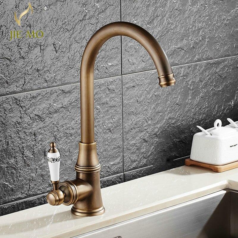 Bathroom Faucet 4 colors Porcelain Handle Faucet Hot Cold Mixer ...