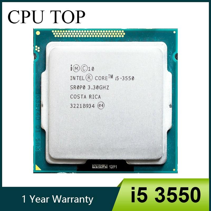 intel i5 3550 Processor Quad Core 3 3Ghz 77W Socket LGA 1155 Desktop CPU working 100