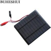 BUHESHUI 2.5 W 5 V Güneş Pili Polikristal GÜNEŞ PANELI + Timsah Klip Şarj 3.7 V Pil güneş enerjisi şarj cihazı 150*130 MM
