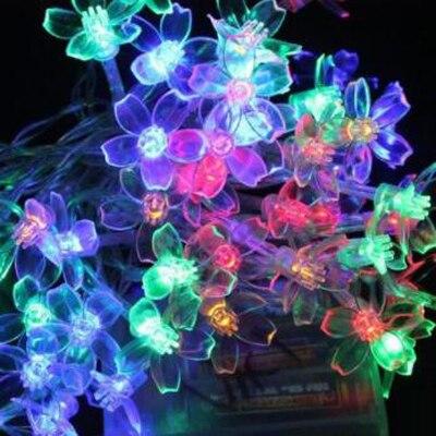 Holiday Christmas Decoration Led String Lights LED Flower String Lights Room Decoration Lights Wedding Lantern Christmas Light