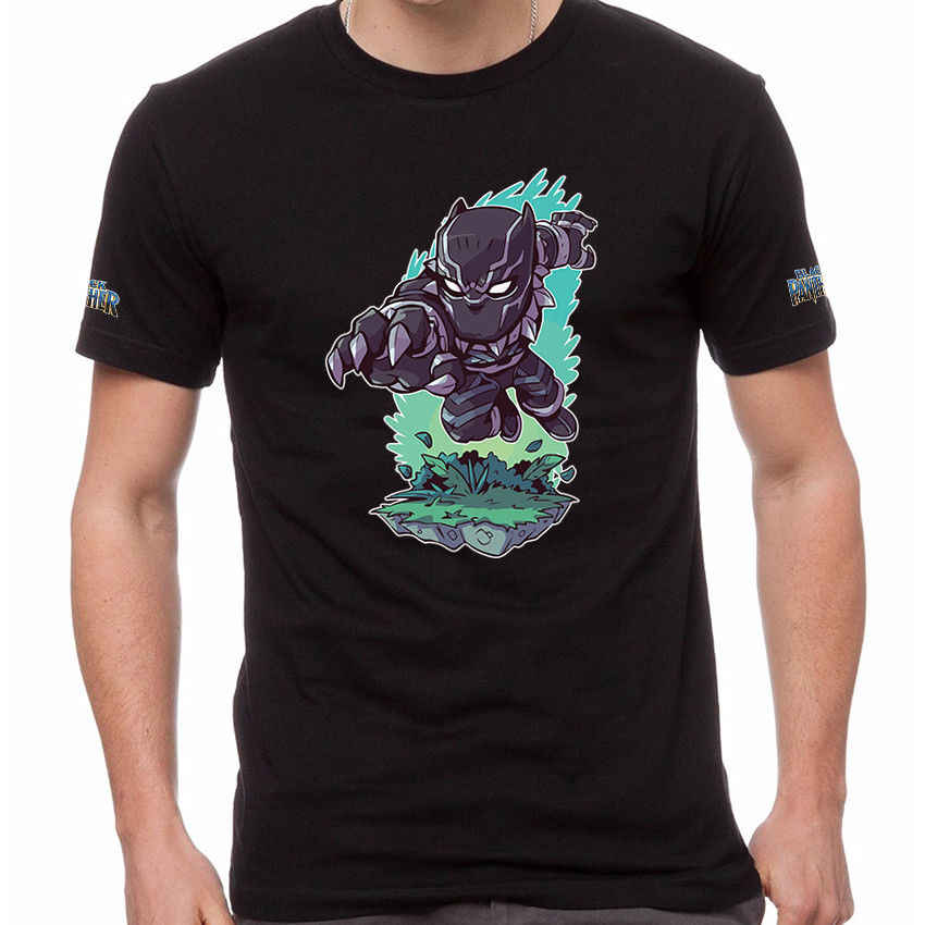 Black Panther Wakanda Forever Superhero Marvel 100% Katoenen T-Shirt BLA-0004 Tiener Natuurlijke Katoen Gedrukt top tee shirts