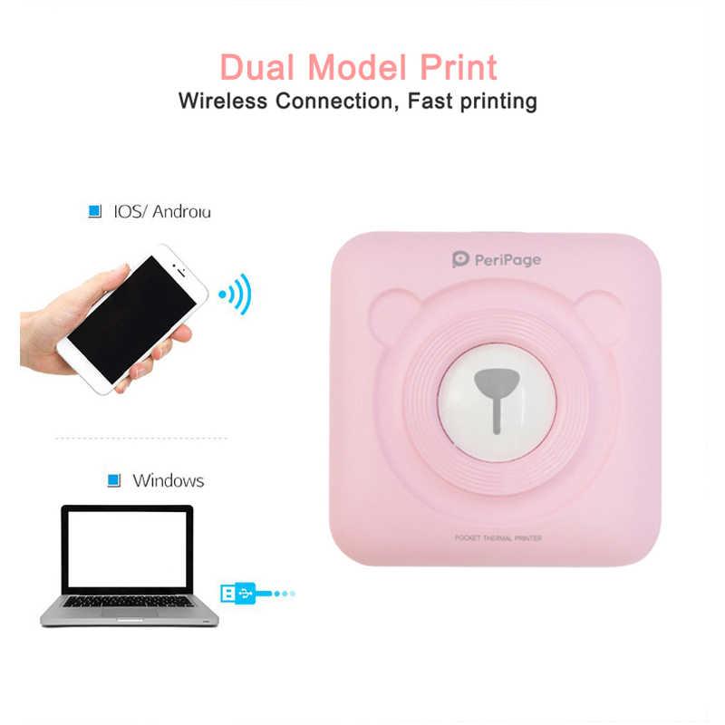 ポータブルbluetoothプリンタ 58 ミリメートルミニ熱画像をフォト用のios携帯電話