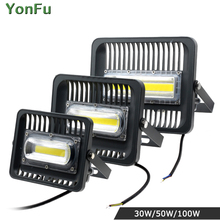 30W 50W 100W LED Grow Light Waterproof IP67 COB Flood light 110V 220V Outdoor Wall Garden Lighting