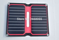 Solarparts Portable Solar Charger 5V 10W Red Color ETFE Lamianted All In One High Efficiency 12V