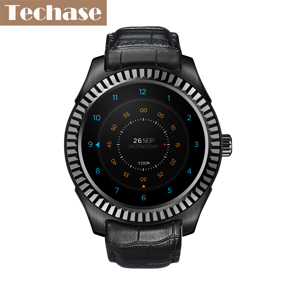 Techase 2017 new smartwatch heart rate monitor watches android os smart watch wifi sim 1g 8g nfc for Android watches