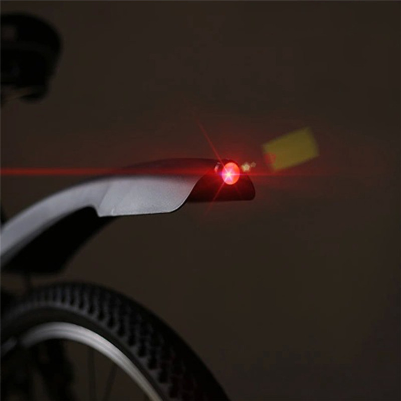 Bicycle Mudguard Front Rear <font><b>Fender</b></font> Mountain Road Cycling LED Tail Light Plastic Bike <font><b>Fender</b></font> Bicycle Parts 7 Colors