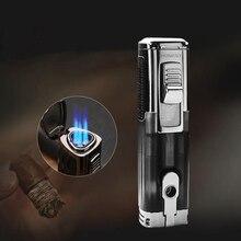 Металлический фонарь, турбо зажигалка, сигары сигареты газовая зажигалка, зажигалка, аксессуары для курения, Электронная зажигалка, Бутан