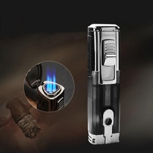 2019 New Metal Torch Turbo Lighter Cigar Cigarettes Lighters gas Lightersmoking accessories Flame Electronic Butane