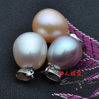3 COLORS!!! Hot Christmas Promotion!!! 9 10mm Freshwater Pearl Pendant Necklace with Necklace Chain