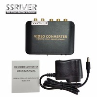SSRIVER HDMI to Ypbpr 5RCA Converter HDMI to Ypbpr scaler adapter HDMI TO 5RCA Component Video for Game TV