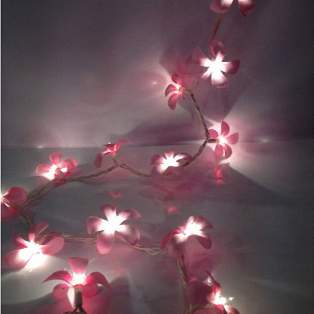 Pink String Lights Delectable Handmade Pink Wedding Ornaments Pastel Floral LED String Lights