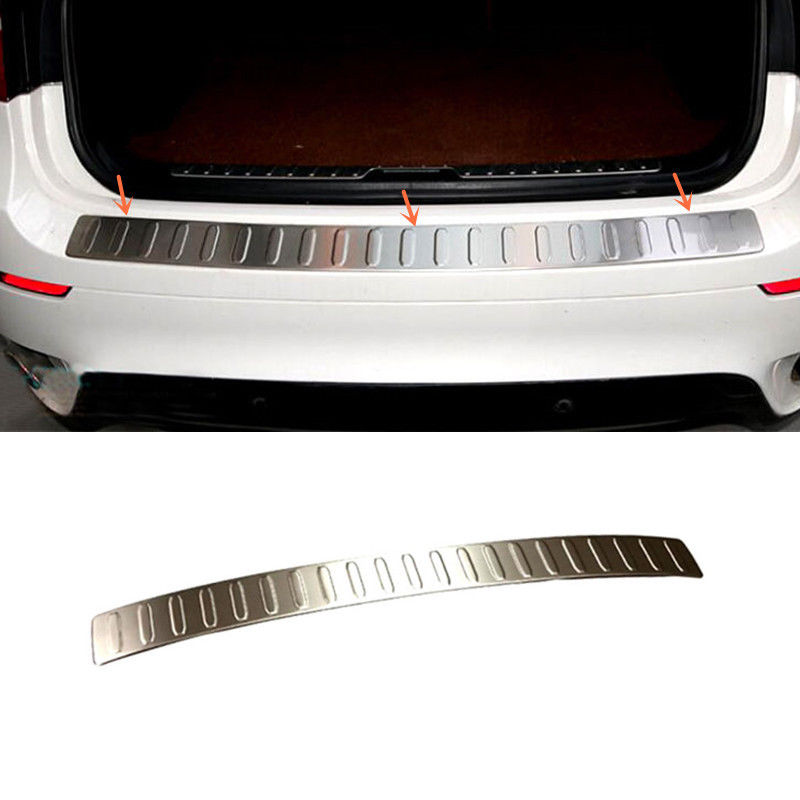 Stainless Steel Outer Rear Bumper Protector Sill trim Trunk Guard Cove Fit For BMW X5 E70 2007 - 2013 Accessories Car Styling car styling frp auto body kits bumper for bmw e70 x5 2008 2013