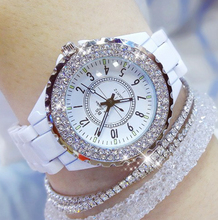 New Arrival BS Brand Full Crystal Stainless Steel Watch Women Luxury Czech Stones Watch Lady Zircon Rhinestone Bangle Bracelet bs brand pearl watch lady mother of peal watch dial diomand luxury bracelet women pearl rhinestone crystal watch dress bracelet