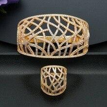 ModemAngel, роскошная линия, геометрические, полностью покрытые цирконием, женский браслет, браслет и кольцо, модные ювелирные наборы