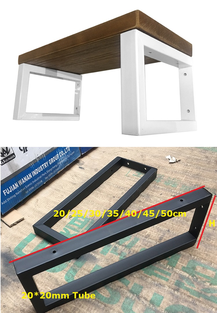 1Pair(2 PCS)/Lot White Black Wall Mounted Shelf Bracket Brackets Support With Screws Square tube Frame