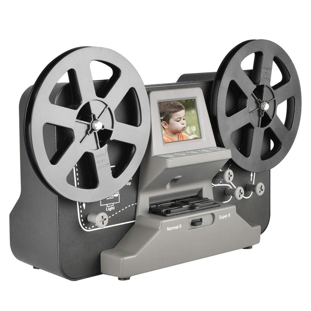 8mm & Super 8 Reels To Digital MovieMaker Film Scanner,Pro Film Digitizer Machine With 2.4