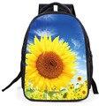 Sunshine Wild Sunflower flower boys girls students bag pupil backpacks school Kindergarten book floral backpack famous brand bag