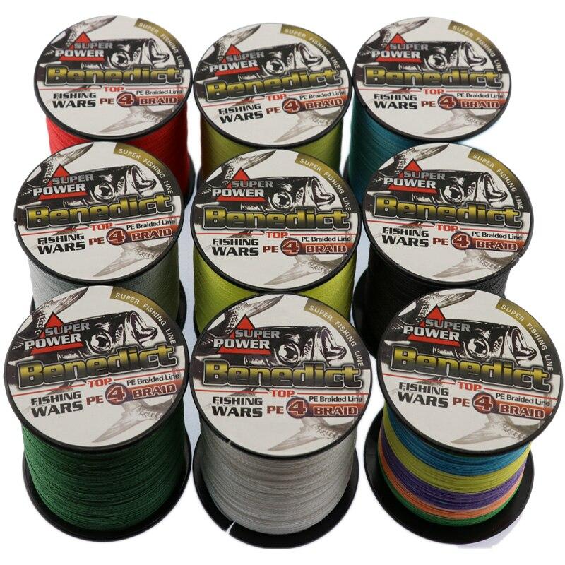 Nouvelle qualité 4x tressé ligne de pêche 500 m 6-100LB super pe fiber ligne de pêche outil pour pêcheur 0.1-0.55mm pour fils de pêche