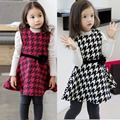 2017 New Spring and autumn Princess Dress Chlidren Clothes Kids Casual Style Clothing For Girls  Belt