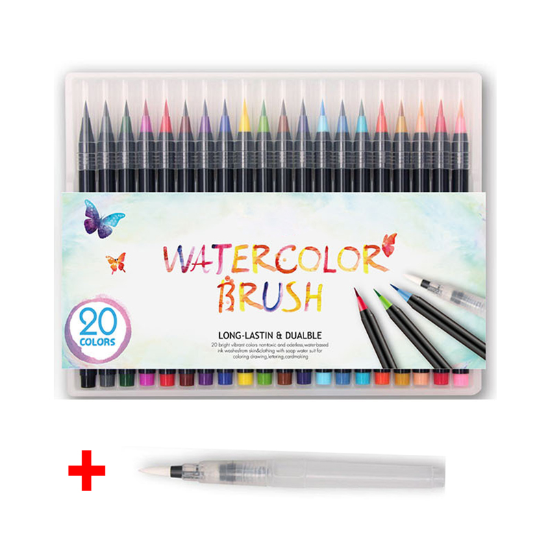 Markers Art stationery Liners for drawing set highlighter colored marker pens Children Painting watercolor Brush Pen children s paintbrush sets painting supplies painting tools children crayon watercolor pen art stationery 110 pieces set