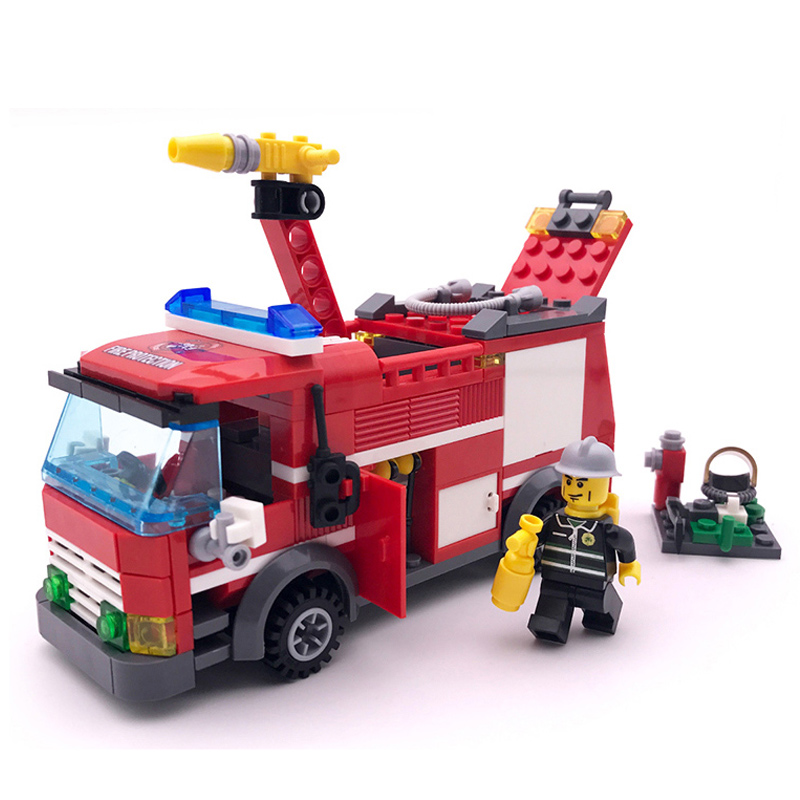 Civilized City Fire truck Legoings Model Building Blocks Toy Kit DIY Educational Children Birthday GiftsCivilized City Fire truck Legoings Model Building Blocks Toy Kit DIY Educational Children Birthday Gifts