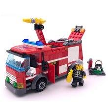 Civilized City пожарная машина Legoings модель здания Конструкторы игрушка комплект DIY образования детей подарки на день рождения