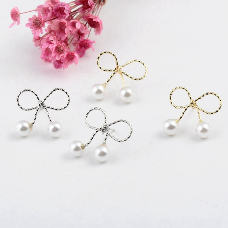 New Design Bow Ball Stud Earrings Hollow Anti-allergic Earrings For Women Jewelry Hot Sale Gift Fashion Jewelry