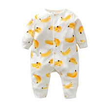 2018 primavera otoño recién nacido mamelucos del bebé 100% algodón manga larga bebé niño niña ropa de dibujos animados bebé ropa de dormir ropa de bebé
