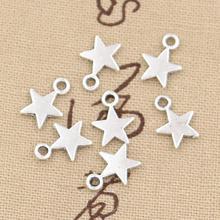 """100 подвеску звезды 11x8 мм ручной кулон ювелирных изделий fit, винтажные бронзовые тибетские серебряные цвета, """"сделай сам"""" для браслетов и ожер..."""