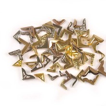 50 шт Смешанные Угловые протекторы металлические изделия для альбомов меню папки для фотографий Скрапбукинг протекторы Декор DIY поставки C2327