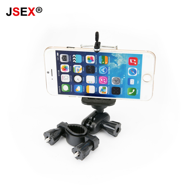 Universal Car Rearview Mirror Mount Phone Holder Clip Mount Stand For Apple iPhone Samsung 5s 6 7 plus Bicycle GPS DVR Black
