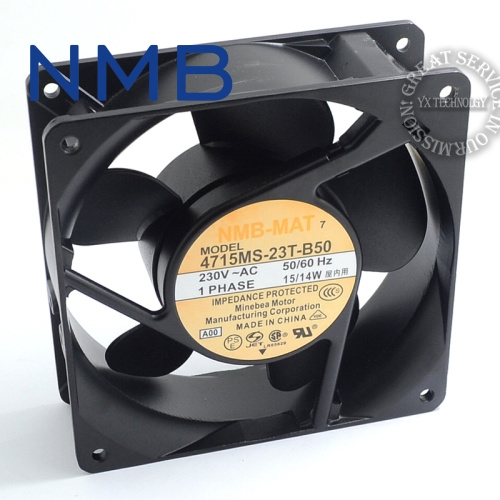 New 4715MS-23T-B50 12cm 12038 230V 15W DC cabinet cooling fan for NMB 120*120*38mm original delta ffb1224she 12cm 120mm 12038 120 120 38mm 24v 1 20a cooling fan