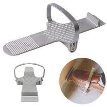 Multifonctionnel cloison sèche porte pied utiliser outil à main réparation plaque de contrôle fort Simple conseil Lifter anti dérapant feuille de plâtre alliage