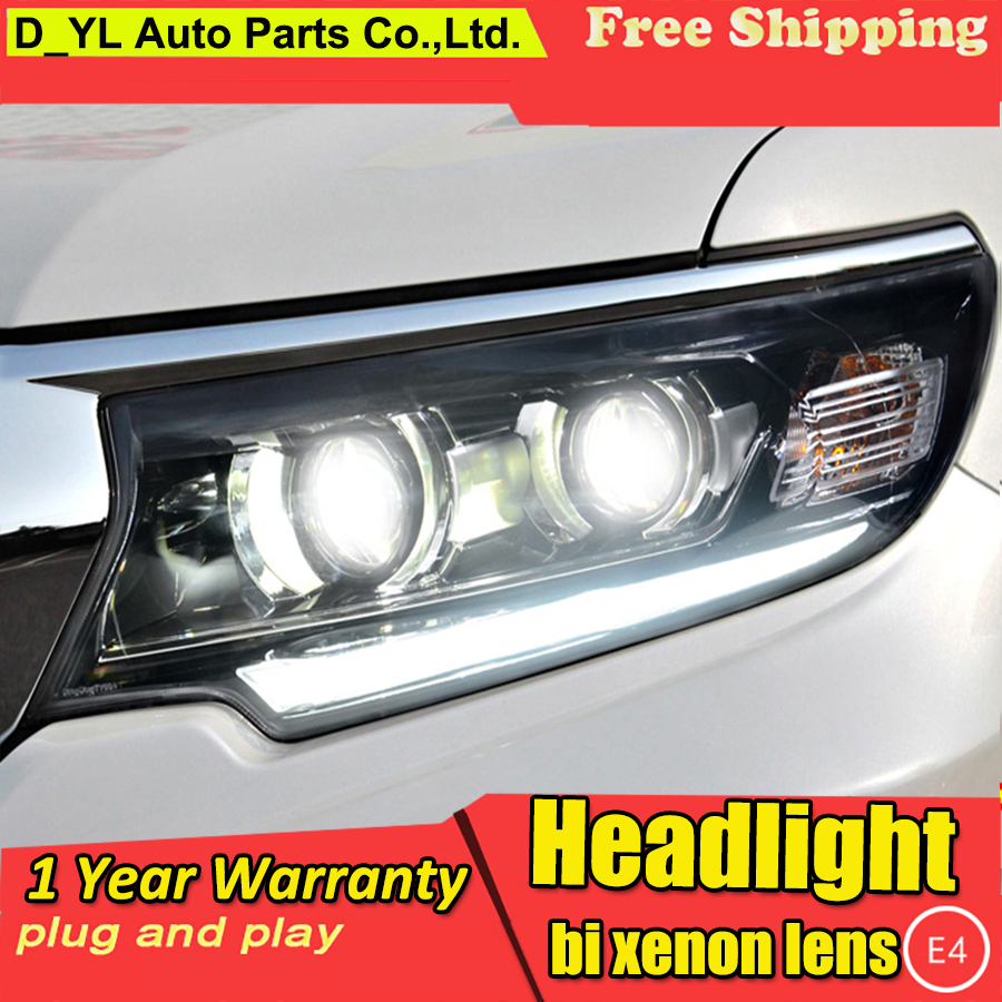 Car Styling For Toyota Prado Headlights 2018 LED Head lamp LED DRL High Low lamp Full
