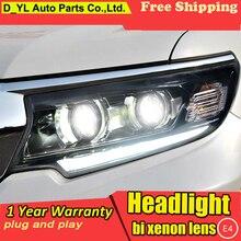 Автомобильный Стайлинг для фары для Toyota Prado светодиодный головной фонарь светодиодный DRL Высокий Низкий фонарь полный светодиодный двойной объектив автомобильные аксессуары