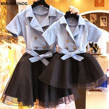 hot deal buy 2019 family matching outfits mommy and me mother daughter dresses family look button kirt princess mom girl elegant dress c0253