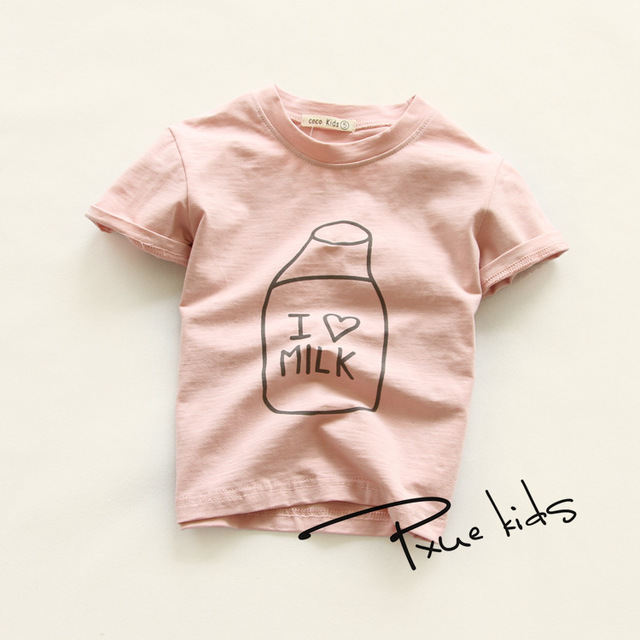 0fa358f57 2016 New Lovely printting Baby Kids Boys Cartoon Tops girls clothes ...