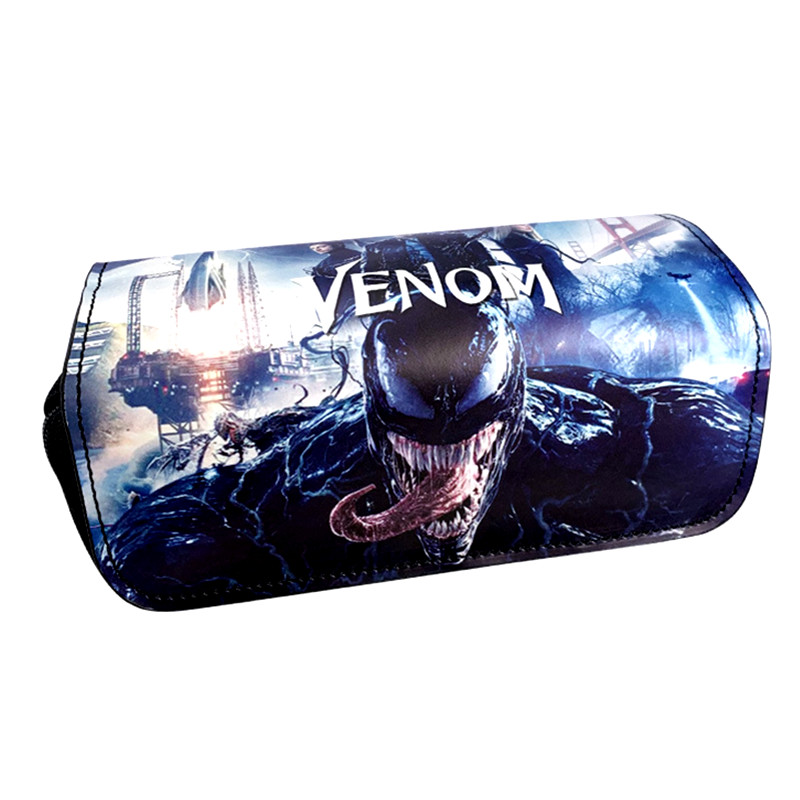 FVIP Anime Comics Marvel Hero Deadpool / Captain America / Iron Man / Venom Cosmetic Cases Make Up Bag Pencil Case For Students