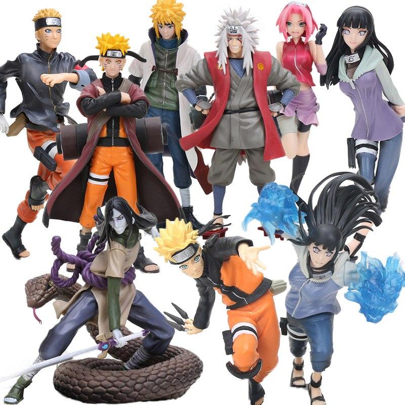 New Naruto Figure Naruto Shippuden Uzumaki Gals Hyuuga Hinata Jiraiya Haruno Tsunade PVC Action Figures Collectible Model Dolls(China)