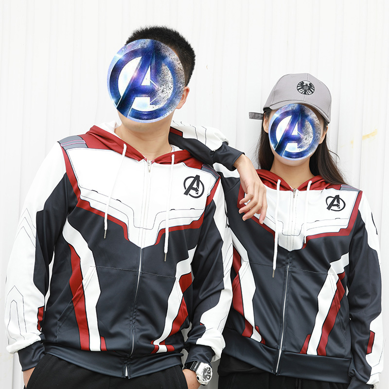 S-5XL Avengers Endgame Quantum Realm Sweatshirt Jacket Advanced Tech Hoodie Cosplay Costumes 2019 fot Women Men Cosplay Coat