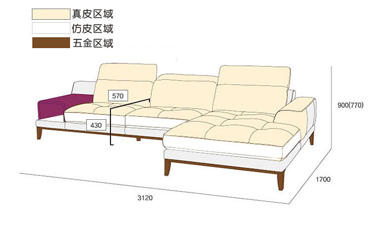 top cow real leather sofa sectional living room sofa corner home - Furniture - Photo 6