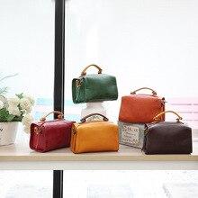 YIFANGZHE małe kobiety prawdziwej skóry torba, styl Vintage moda skóra bydlęca torby na ramię torebka z prawdziwej skóry