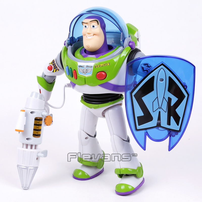 Original Toy Story Buzz Lightyear Talking Action Figure Collectible Model Toy Kids Boys Christmas Birthday Gifts 12inch 30cm original toy story 3 buzz lightyear robot light voice elastic wings 30cm action music anime figure kids toys for children p2