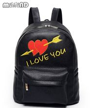 Miwind-F буквы вышитыми сердечками рюкзак, новые стильные школьные сумки, высокое качество, Женская День пакеты известные бренды Сумка