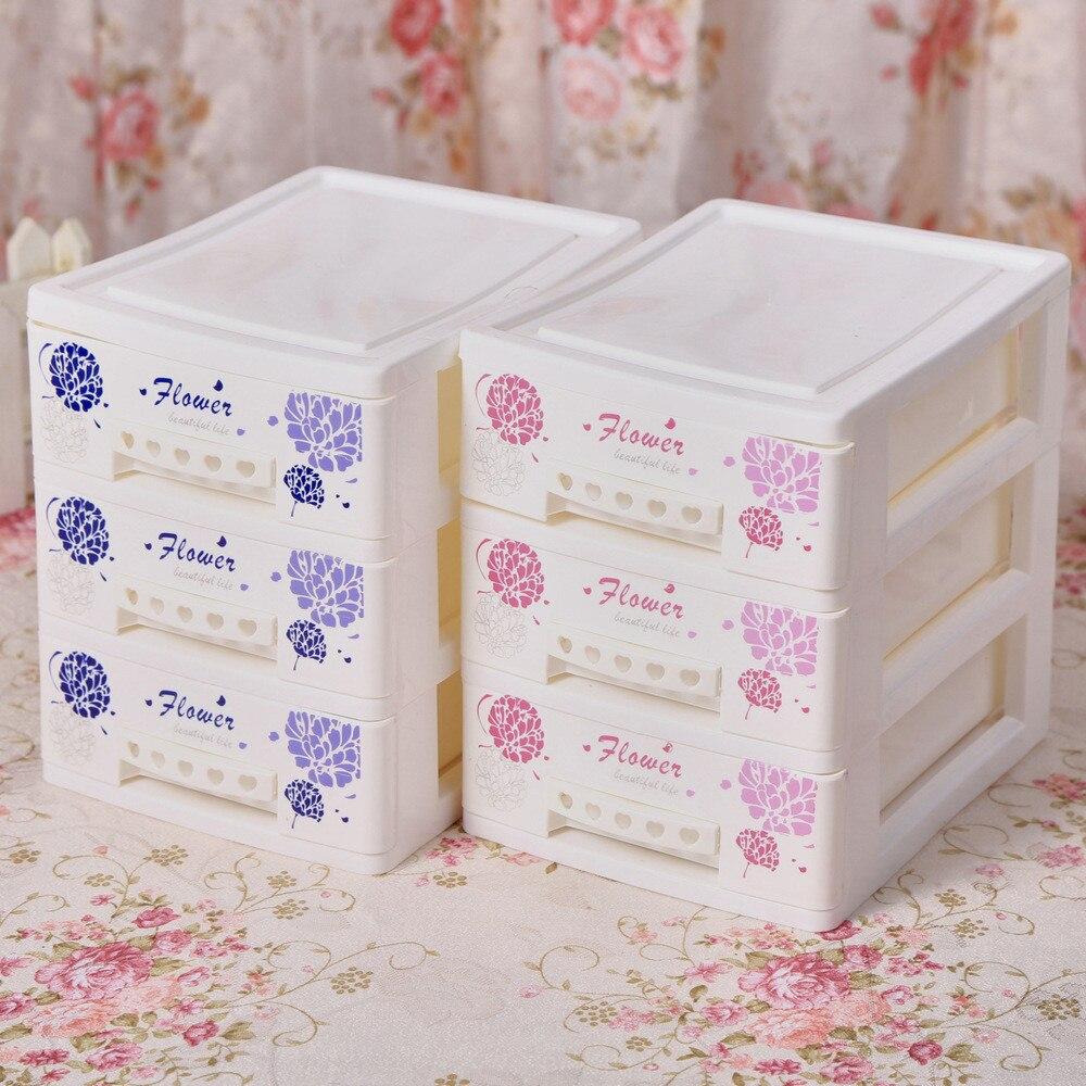 Multi Fungsi Lucu Plastik Meja Rias Kosmetik Organizer Kasus Holder Desktop Storage Keranjang Multifungsi Box Penyimpanan Kotak Dengan Laci Untuk Rumah Di