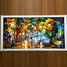 2020 kolorowanie plakat ręcznie malowany obraz olejny krajobraz do salonu ściana artystyczny dom dekoracja streszczenie bez ramki