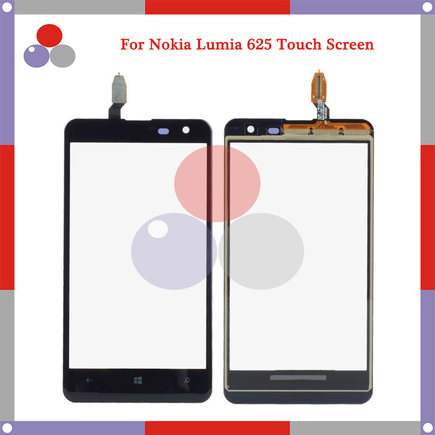 High Quality For Nokia Lumia 625 N625 Touch Screen Panel Sensor Digitizer Outer Glass Lens