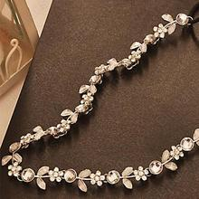 Hot Fashion Women's Hot New Silver Crystal Rhinestone Flower Elastic Hair Band Headband Hair Accessories  0J3G BCVA