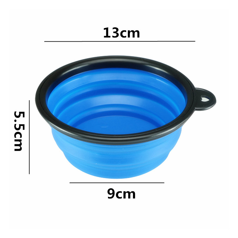 Collapsible Silicone Pet Food Bowl Portable Outdoor Travel Dog Food Container Water Drinking Bowl Dish Pet Feeding Accessories 6